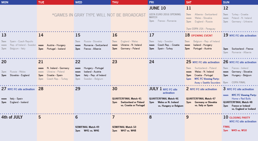 Governors Island Public Viewing Zone Calendar